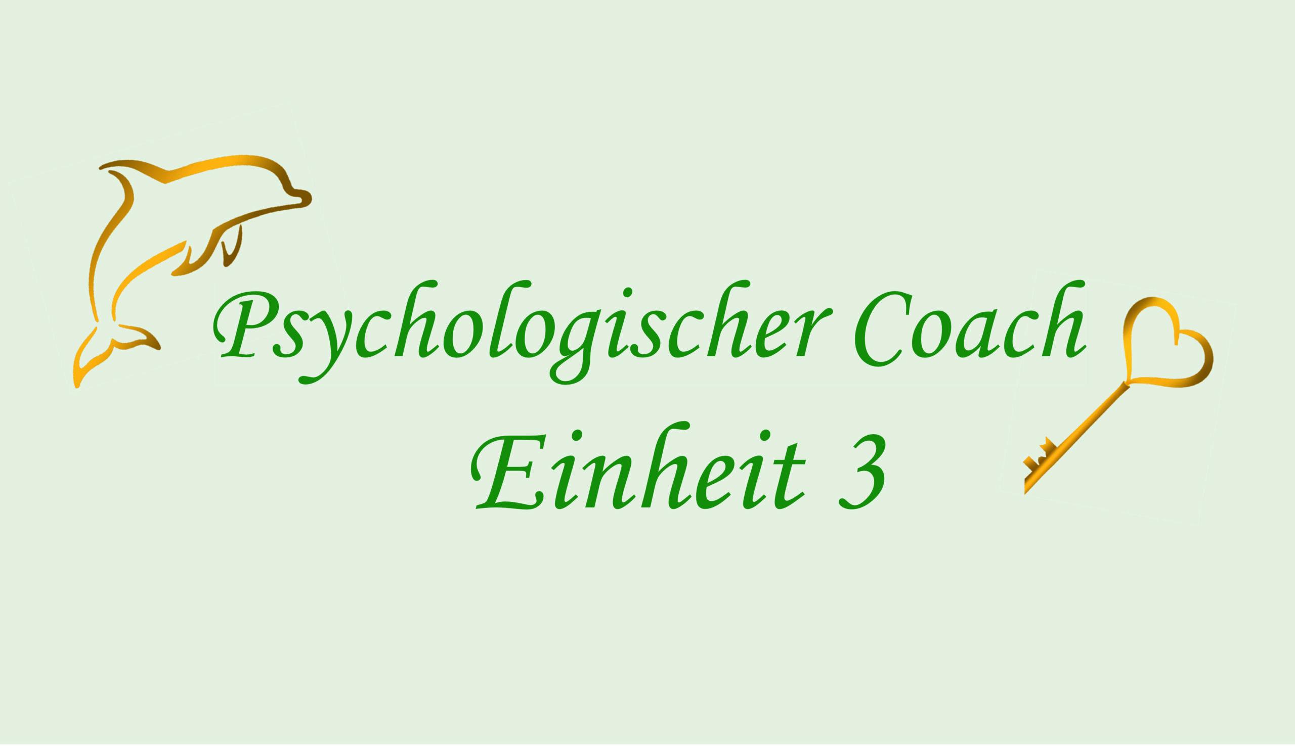 Ausbildung Psychologischer Coach – Einheit 3 (ONLINE)